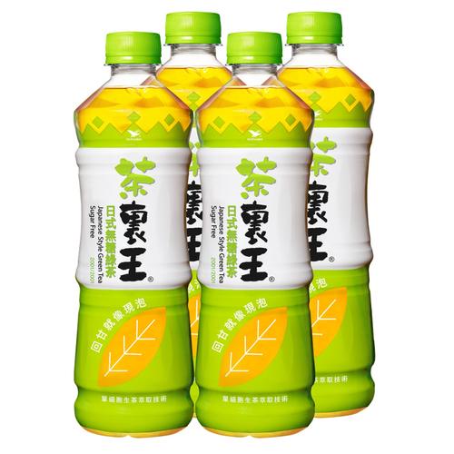 《統一茶裏王》日式無糖綠茶(600ml*4瓶)
