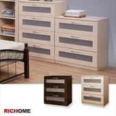 《RICHOME》達倫E1板三抽PP斗櫃-2色可選(白橡色)