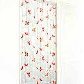 《布安於室》飄葉遮光風水簾-紅橘