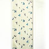 《布安於室》飄葉遮光風水簾-墨藍