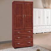 《時尚屋》葛蘭傑2.7尺樟木色衣櫥