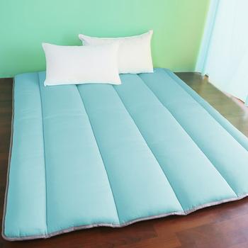 契斯特 超涼感冰晶絲8公分京都日式床墊-雙人(六色任選)(藍色)