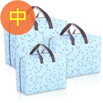 佶之屋 日式 600D可水洗式牛津布棉被、衣物收納袋-中(藍色櫻桃)