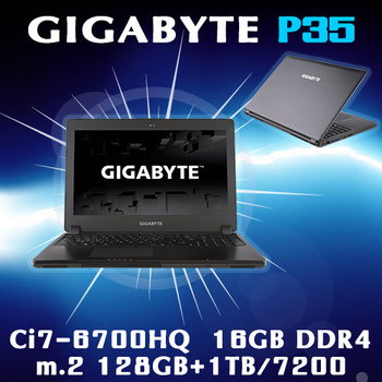 GIGABYTE技嘉 P35WV5-4K7670H16GE1H1W10 GTX970M Ci7-6700HQ電競級獨顯筆電(15.6吋)