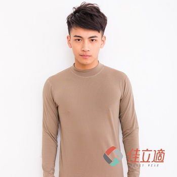 《3M-佳立適》蓄熱保暖衣-男高領-卡其色(L)