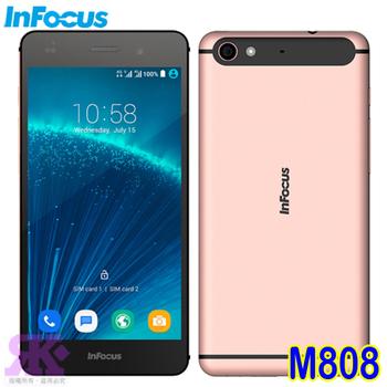 Infocus Infocus M808(32G) 5.2吋八核雙卡智慧手機-贈專用皮套+9H鋼保+專用耳機 +手機/平板支架(玫瑰金)