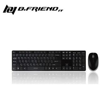 B.Friend RF1430 2.4G無線鍵盤滑鼠組(黑色)