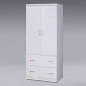 《Homelike》米蘭白色衣櫃2.5x6尺(白色)