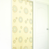 《布安於室》花火遮光風水簾-米黃