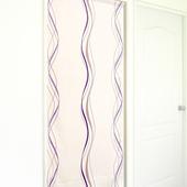 《布安於室》多曲線條風水簾(芋紫色底)