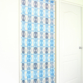 《布安於室》幾合圖形遮光風水簾(藍色)