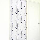 《布安於室》藤蔓小葉遮光風水簾-灰紫