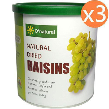 歐納丘 美國加州天然無籽葡萄乾(360g*3罐)
