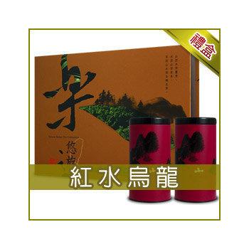 《名池茶業》梨山手採紅水烏龍/茶葉禮盒300g(樂悠遊款)