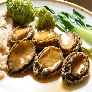 鮮活市集 鮮凍帶殼鮑魚*6顆一包(31g±10% /顆)