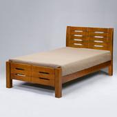 《Homelike》森田床架組-單人3.5尺(不含床墊)(淺胡桃色)