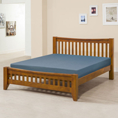 《Homelike》里恩床架組-雙人5尺(不含床墊)(淺胡桃色)