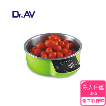 《Dr.AV》可拆式不鏽鋼碗 料理秤(KS-186)