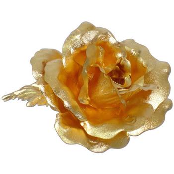 母親節鹿港窯 立體金箔花-典藏黃金玫瑰-胸花(精緻禮盒)(個)