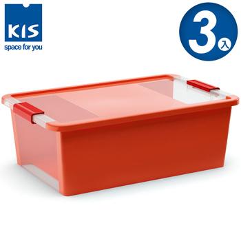 義大利KIS創意收納 BI BOX單開收納箱(M) *3入(橘色)