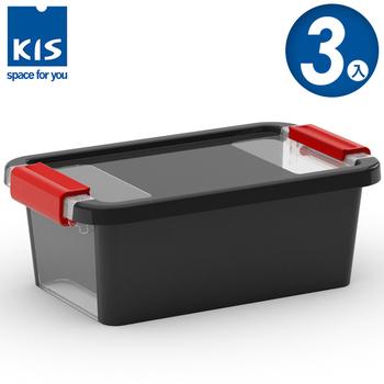 ★結帳現折★義大利KIS創意收納 BI BOX單開收納箱(XS) *3入(黑色)