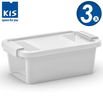 ★結帳現折★義大利KIS創意收納 BI BOX單開收納箱(XS) *3入(白色)