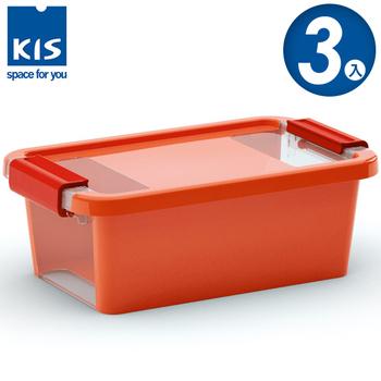 ★結帳現折★義大利KIS創意收納 BI BOX單開收納箱(XS) *3入(橘色)