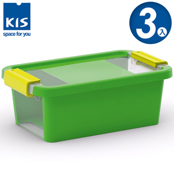 ★結帳現折★義大利KIS創意收納 BI BOX單開收納箱(XS) *3入(綠色)