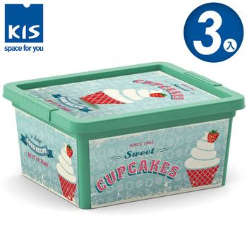 義大利KIS創意收納 CBOX收納箱(XXS) *3入(甜點系列-霜淇淋)