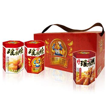 《【幸福小胖】》海洋王宮尊爵禮盒(瑤辣味1盒(瑤柱燒x2+小卷x1/盒))