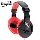 《E-books》S48電競頭戴耳機麥克風(黑)