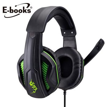 E-books S43 電競頭戴耳機麥克風(黑)