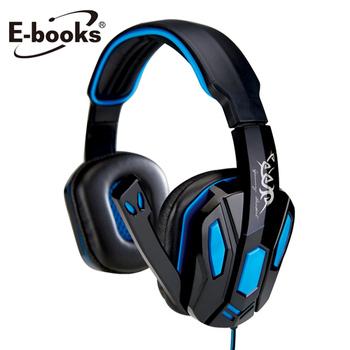 E-books S42 電競頭戴耳機麥克風(黑)