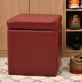 《佳嘉家》吉尼爾收納椅/儲藏椅/玄關椅/掀蓋椅-5色可選(深紅色)