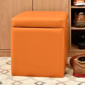 《佳嘉家》吉尼爾收納椅/儲藏椅/玄關椅/掀蓋椅-5色可選(橙色)