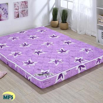 戀香 高透氣鋪棉兩折雙人加大床墊(三色可選)(楓葉紫)