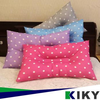 KIKY 繽紛點點3M吸濕排止鼾枕頭-可水洗(1入)(藍色)