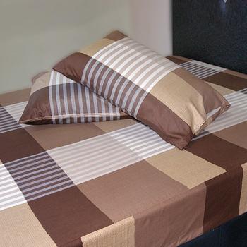 《Victoria》純棉加大床包+枕套三件組 - 典藏((6*6.2尺))