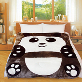 《Victoria》動物造型毯-可愛熊貓(5*6.5 (150x200 cm))