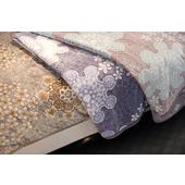 《Indian》豪華雕花微波多用毯(粉灰-180x210cm)