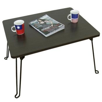 頂堅 深60x寬60/公分-戶內外-折疊桌/摺疊桌/休閒桌(二色可選)-1入/組(深胡桃木色)