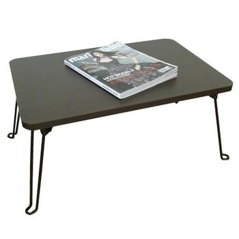 頂堅 深40x寬60/公分-戶內外-折疊桌/摺疊桌/休閒桌(二色可選)-1入/組(深胡桃木色)