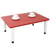 《頂堅》寬80x深60/公分-和室桌/休閒桌/矮桌(喜氣紅色)三款腳座可選(錐形腳)