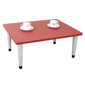 《頂堅》寬80x深60/公分-和室桌/休閒桌/矮桌(喜氣紅色)三款腳座可選(尖形腳)