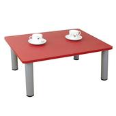 《頂堅》寬80x深60/公分-和室桌/休閒桌/矮桌(喜氣紅色)三款腳座可選(圓形腳)