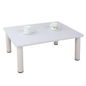 《頂堅》寬80x深60/公分-和室桌/休閒桌/矮桌(素雅白色)三款腳座可選(圓形腳)