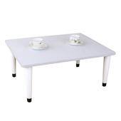 《頂堅》寬80x深60/公分-和室桌/休閒桌/矮桌(素雅白色)三款腳座可選(尖形腳)