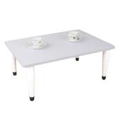 《頂堅》寬80x深60/公分-和室桌/休閒桌/矮桌(素雅白色)三款腳座可選(錐形腳)