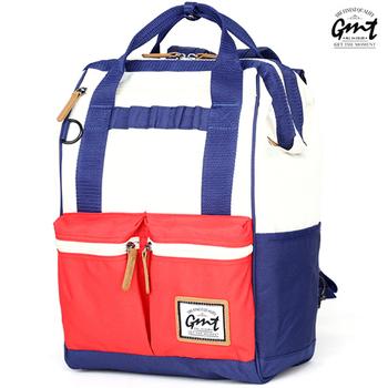 GMT挪威潮流品牌 時尚大容量後背包 (三色可選)(藍白紅-混色)