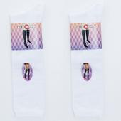 《【KEROPPA】可諾帕》流行細針超彈性中統襪*2雙C92001-B-白色(22~26cm)